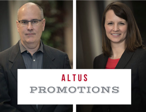 Hamilton, Hinshaw Earn Promotions at Altus